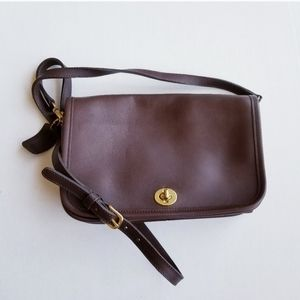 Coach Chocolate Brown Leather Crossbag